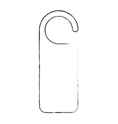 Door knob do not disturb hanger corporate empty vector