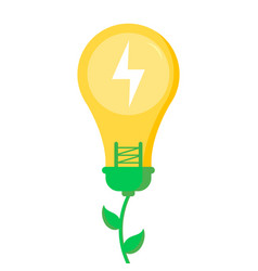 eco friendly save planet and energy concept vector image