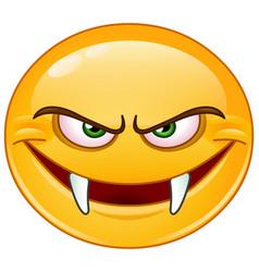 Fangs emoticon vector