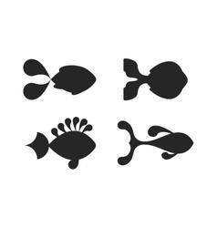 Fish black silhouette vector image