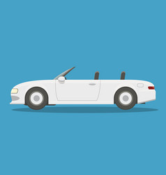 flat white cabriolet vector image