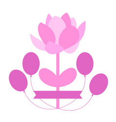 flower with balloons vector image