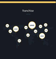 Franchise worldwide flat vector