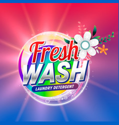 Fresh laundry detergent or doap cleaning product vector