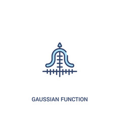 Gaussian function concept 2 colored icon simple vector