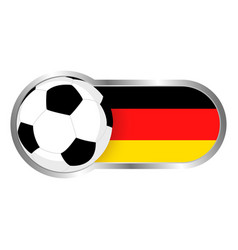 germany soccer icon vector image