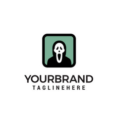 ghost logo design concept template vector image