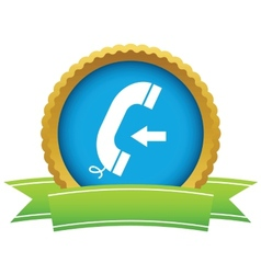 Gold incoming call logo vector