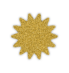Gold star with bland shadows vector
