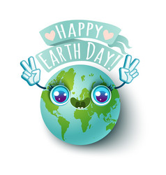 Happy earth day vector