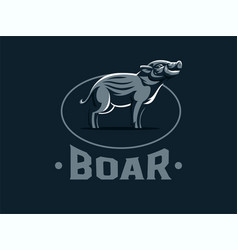 Hatchling of wild boar vector