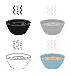 Hot soup icon cartoon single sick icon from the vector