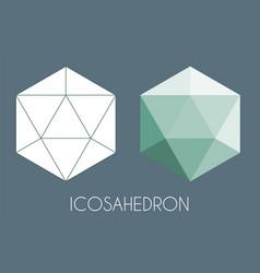 Icosahedron platonic solid sacred geometry vector
