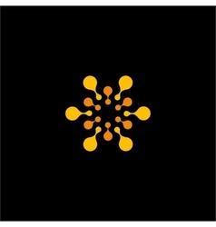 Isolated orange flower logo Sun vector image