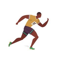 Jogging person runner in motion running men vector