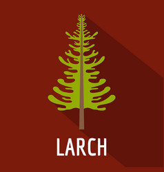 larch tree icon flat style vector image