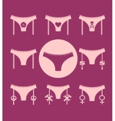 Lingerie icon simple style collection vector image