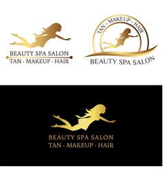 Logo set for beauty salon spa salon beauty shop vector