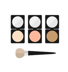 Makeup mineral powder flat icon vector