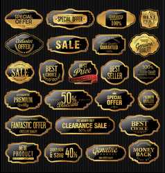 metal plates premium quality gold and black vector image