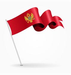 Montenegro pin wavy flag vector
