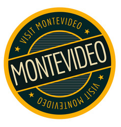 Montevideo geographic stamp vector