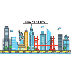 new york new york citycity skyline architecture vector image