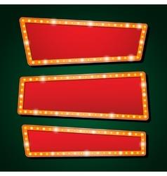 orange neon lamp letters font show cinema vector image