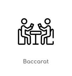 Outline baccarat icon isolated black simple line vector