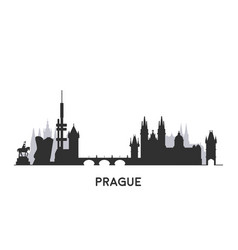 Prague skyline silhouette vector