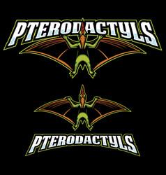 Pterodactyls mascot logo vector