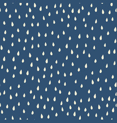 raindrops beige white on blue background seamless vector image