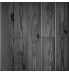 Realistic dark grey wood boards texture vector image