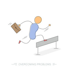 Running businessman - overcoming problems vector