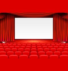 Scene cinema background art performance on stage vector