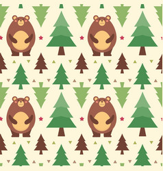 Seamless pattern bear vector