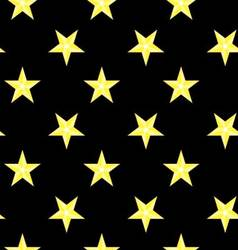 Seamless pattern bright stars night sky vector image