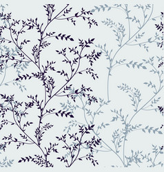 seamless pattern with image herbs silhouette vector image