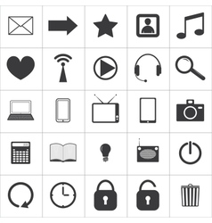 set media icons vector image