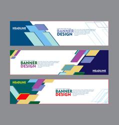 set of banner design for web banner brochure vector image