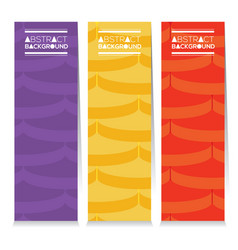 Set of colorful graphic pattern vertical banners vector