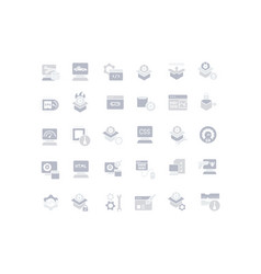Set simple icons software vector