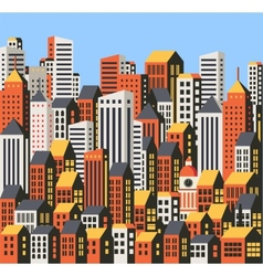 Skyscrapers and houses vector image