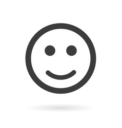 smiley flat style on a white background vector image