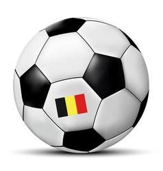 Soccer ball with belgium flag vector