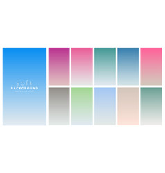 soft gradients colors swatch set vector image