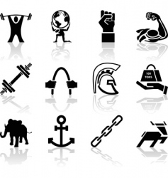 Strength icons vector