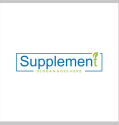 Supplement logo leaf nature design vector