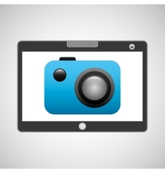 tablet pc technology picture camera vector image