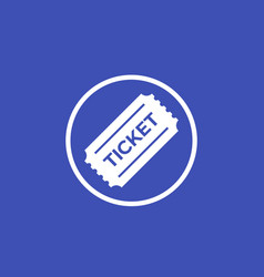 Ticket icon in circle vector